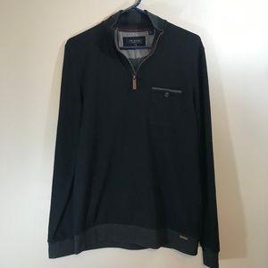 Ted Baker 1/4 Zip Lightweight Sweater Size 3